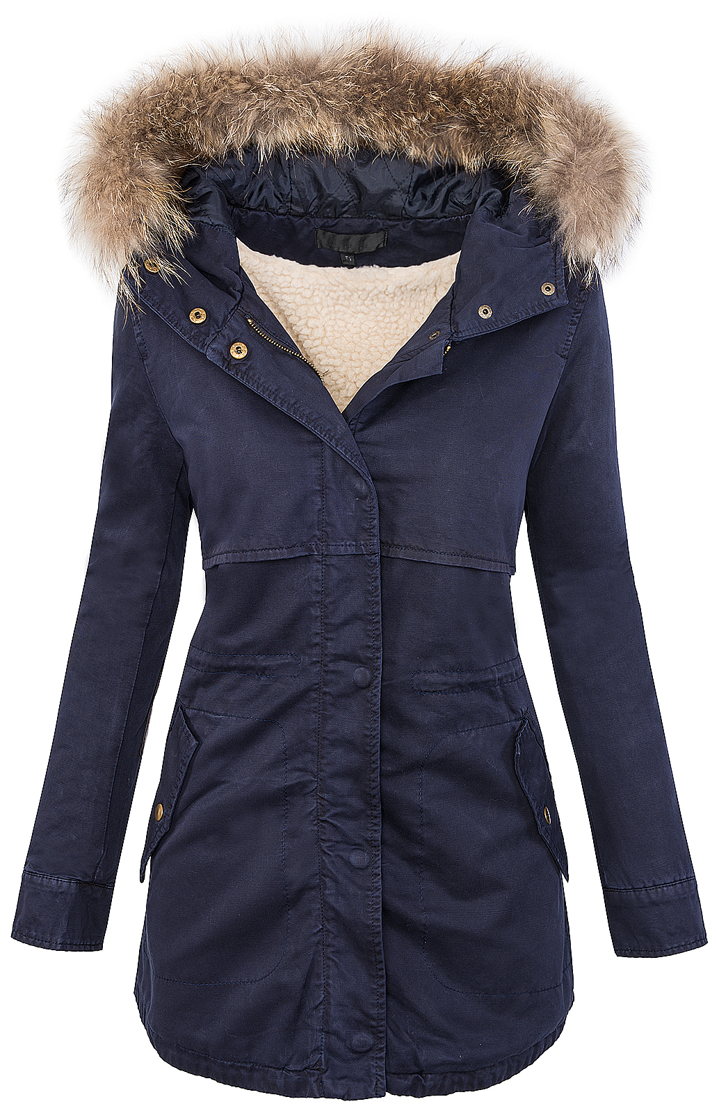 parka mit fellkapuze damen matogla h4f damen arctic winter parka mantel jacke navy navahoo. Black Bedroom Furniture Sets. Home Design Ideas