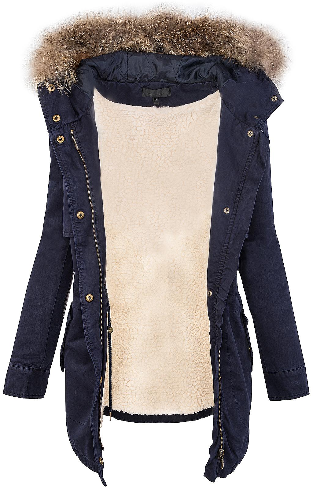 designer damen parka jacke kapuze mit echt pelz teddyfell mantel winter d20 ebay. Black Bedroom Furniture Sets. Home Design Ideas