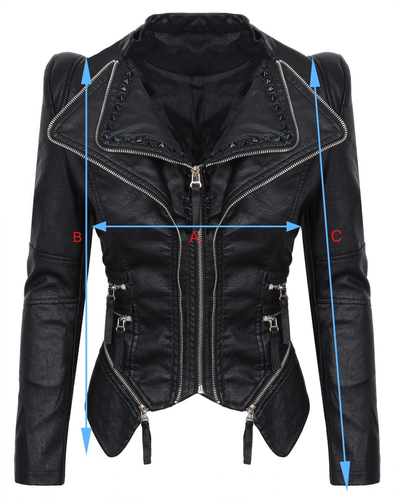 damen kunstleder jacke biker jacke bergangs jacke damenjacke d 311 s xl ebay. Black Bedroom Furniture Sets. Home Design Ideas