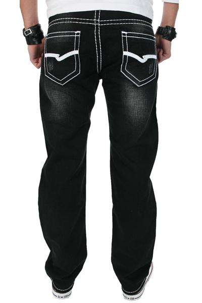rockcreek herren denim designer jeans hose schwarz dicke. Black Bedroom Furniture Sets. Home Design Ideas