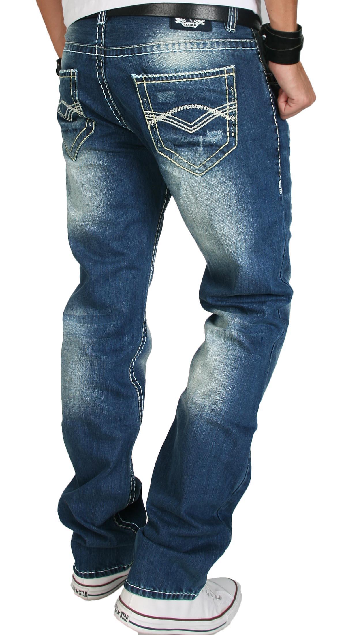 rock creek herren designer jeans hose blau dicke naht. Black Bedroom Furniture Sets. Home Design Ideas