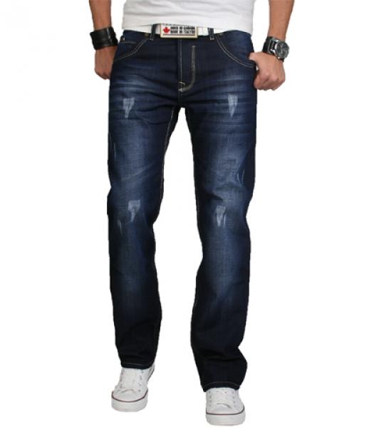 rock creek herren designer denim jeans hose dunkblau used. Black Bedroom Furniture Sets. Home Design Ideas