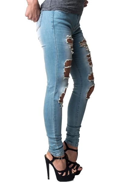damenjeans damen jeans hose r hrenjeans destroyed jeanshose skinny. Black Bedroom Furniture Sets. Home Design Ideas