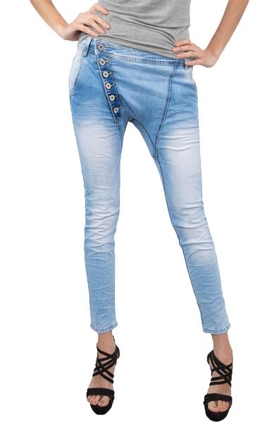 damen jeans hose jogg jeans denim blau sommer hose d 161. Black Bedroom Furniture Sets. Home Design Ideas