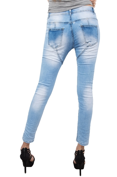 damen jeans hose jogg jeans denim blau sommer hose d 161. Black Bedroom Furniture Sets. Home Design Ideas