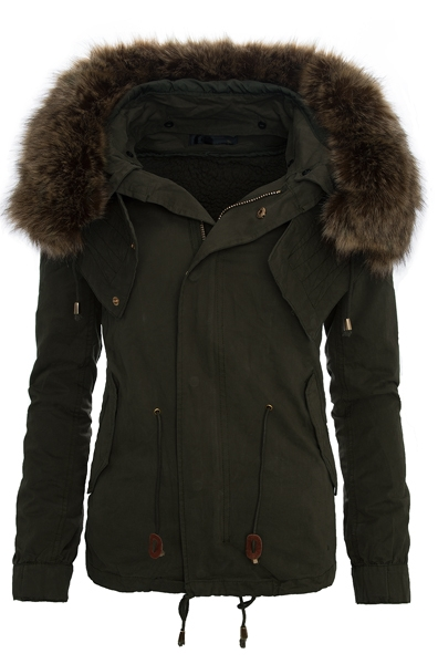 damen parka winter jacke kapuze mit kunstpelz damenjacke. Black Bedroom Furniture Sets. Home Design Ideas