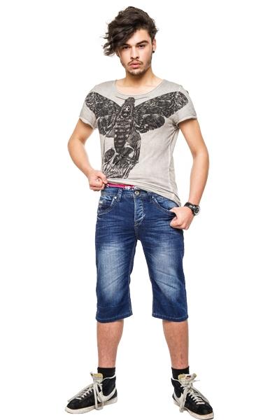 herren jeans bermuda denim shorts herrenshorts kurze hose. Black Bedroom Furniture Sets. Home Design Ideas