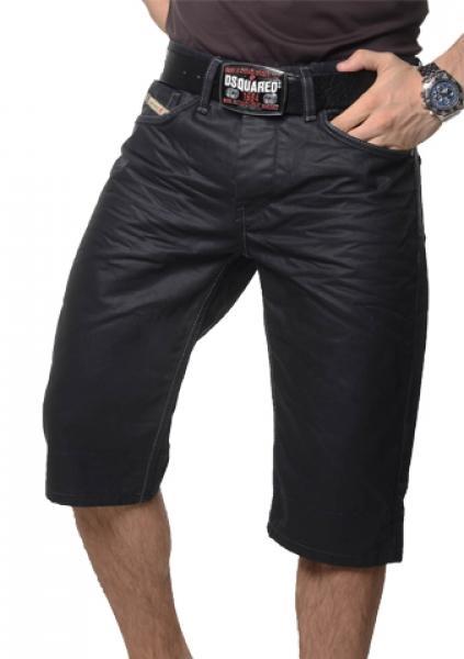 coole herren bermuda jeans shorts hose used look schwarz vintage w28 w38 neu ebay. Black Bedroom Furniture Sets. Home Design Ideas