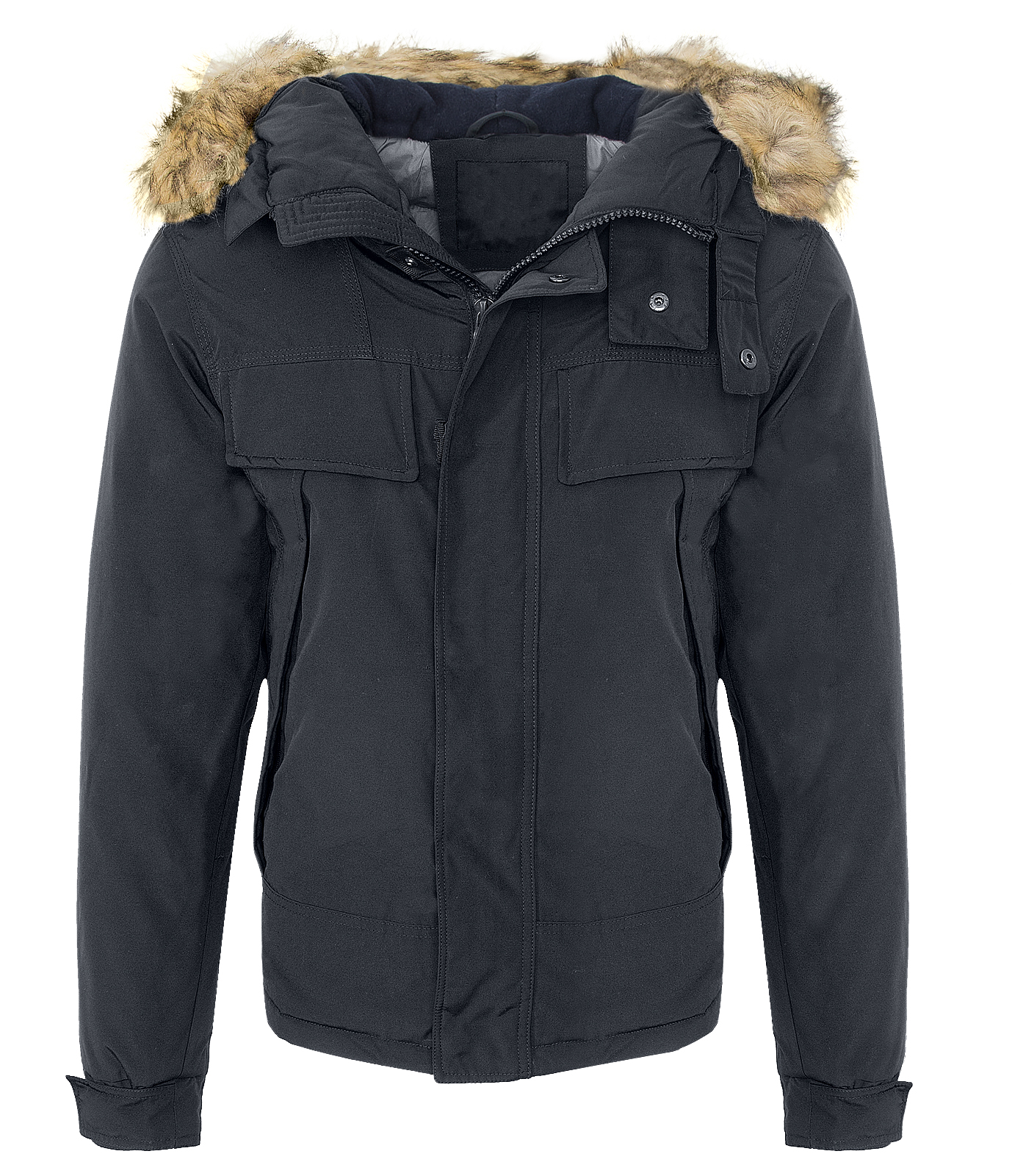 winterjacke herren outdoor jacke parka herrenjacke kapuze fellkragen h 131 s xxl ebay. Black Bedroom Furniture Sets. Home Design Ideas