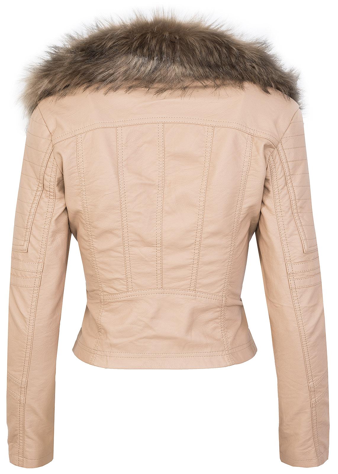 Designer Damen Winter Jacke elegant Kunstfellkragen Übergangsjacke S-XL D-362