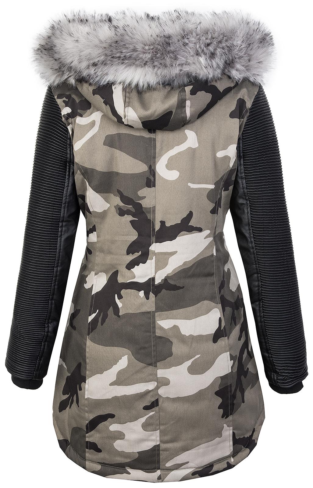 Damen camouflage winter jacke