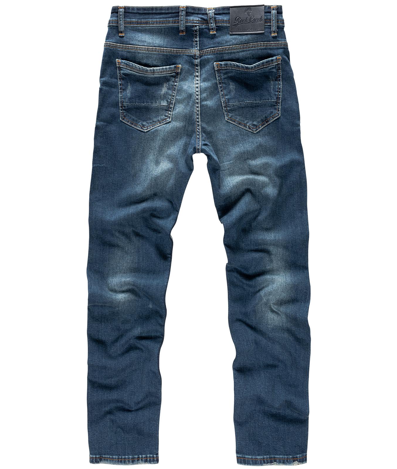 443aded191c99 Designer Herren Jeans Denim Herrenhose Stretch Jeanshose Creek Rock ...