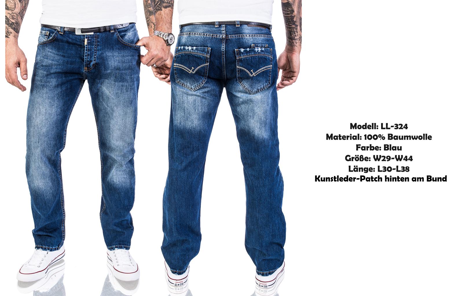 8212323ca7 Rock Creek Designer Herren Jeans Hose Regular Fit Stonewash Jeans ...