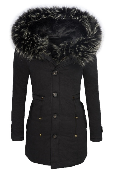 damen parka winter jacke damenmantel warm fellkapuze outdoor schwarz neu d 123 ebay. Black Bedroom Furniture Sets. Home Design Ideas