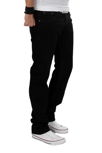 9a4ede352bbd Details zu Rock Creek DICKE Naht Party Hose Clubwear Designer Herren Jeans  Schwarz RC-2034
